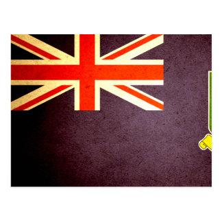 Sun kissed British Virgin Islands Flag Postcard