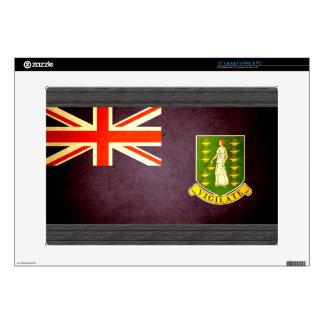 "Sun kissed British Virgin Islands Flag Decal For 15"" Laptop"