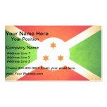 Sun kissed Burundi Flag Business Card Template