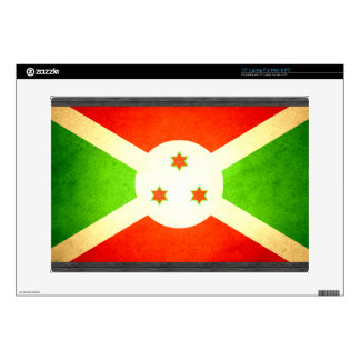 Sun kissed Burundi Flag Laptop Decals