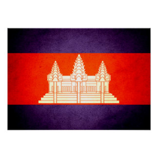 Sun kissed Cambodia Flag Posters