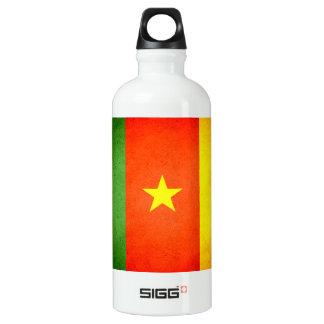 Sun kissed Cameroon Flag Aluminum Water Bottle