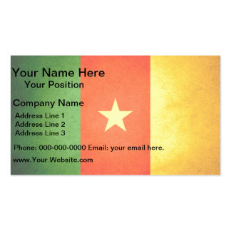 Sun kissed Cameroon Flag Double-Sided Standard Business Cards (Pack Of 100)