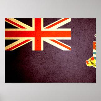 Sun kissed Cayman Islands Flag Print