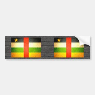Sun kissed Central African Republic Flag Bumper Sticker