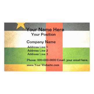 Sun kissed Central African Republic Flag Business Card