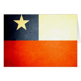 Sun kissed Chile Flag Card