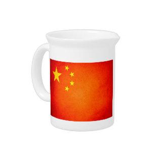 Sun kissed China Flag Beverage Pitchers