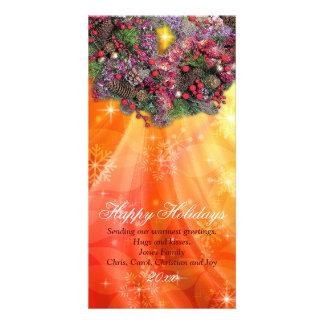 sun kissed christmas customized photo card