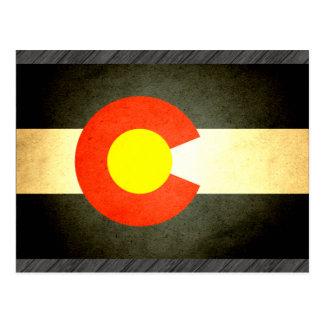 Sun kissed Colorado Flag Postcard