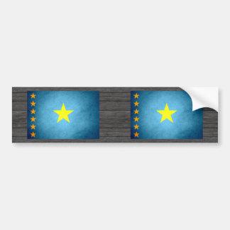 Sun kissed Congo Flag Bumper Sticker