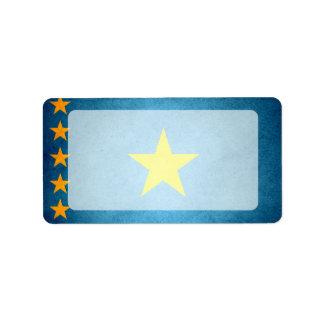Sun kissed Congo Flag Label