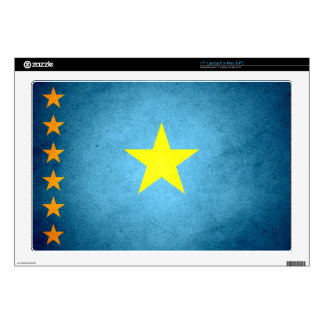 "Sun kissed Congo Flag Skin For 17"" Laptop"