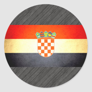 Sun kissed Croatia Flag Classic Round Sticker
