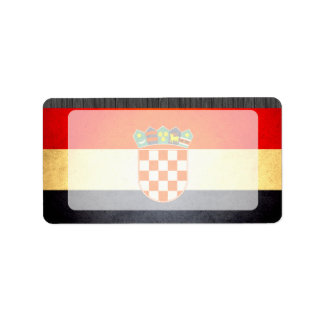 Sun kissed Croatia Flag Label