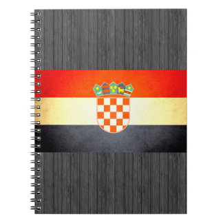 Sun kissed Croatia Flag Notebook