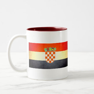 Sun kissed Croatia Flag Two-Tone Coffee Mug