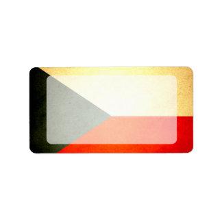 Sun kissed Czech Republic Flag Label