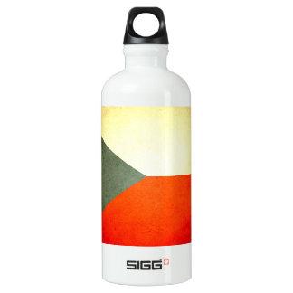 Sun kissed Czech Republic Flag Water Bottle