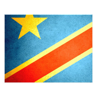 Sun kissed Democratic Republic of Congo Flag Personalized Flyer