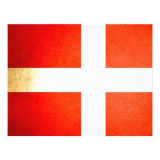 Sun kissed Denmark Flag Full Color Flyer