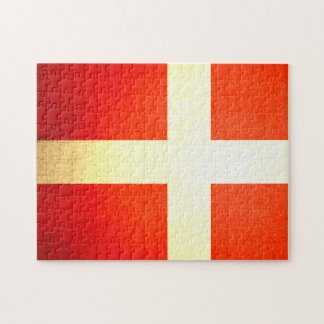 Sun kissed Denmark Flag Puzzles