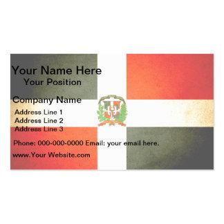 Sun kissed Dominican Republic Flag Business Card