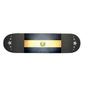 Sun kissed El Salvador Flag Skate Boards
