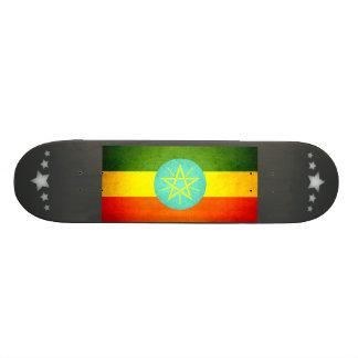 Sun kissed Ethiopia Flag Skateboard