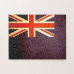Sun kissed Falkland Islands Flag Jigsaw Puzzles