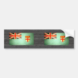 Sun kissed Fiji Flag Bumper Stickers