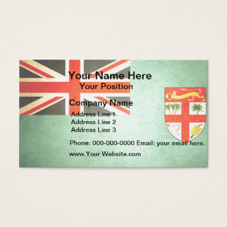 Sun kissed Fiji Flag Business Card
