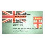 Sun kissed Fiji Flag Business Card Template