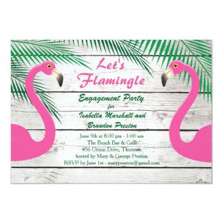 Sun Kissed Flamingo Engagement Party Invitation