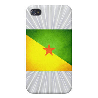 Sun kissed French Guiana Flag Covers For iPhone 4