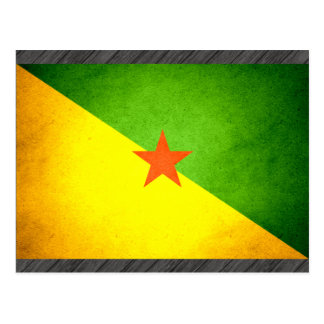 Sun kissed French Guiana Flag Postcard