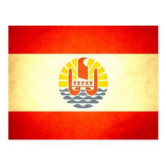 Sun kissed French Polynesia Flag Postcard