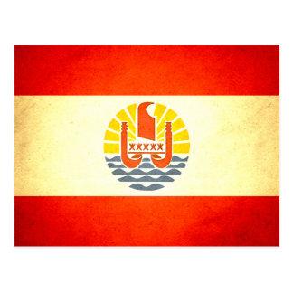 Sun kissed French Polynesia Flag Postcards