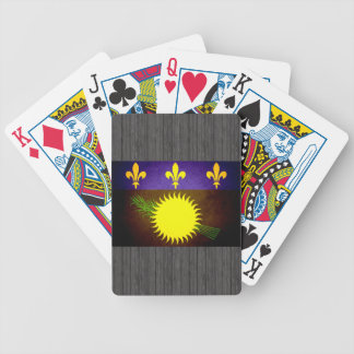 Sun kissed Guadeloupe Flag Bicycle Playing Cards