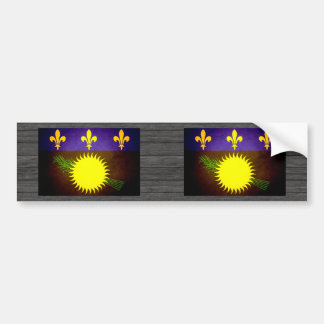 Sun kissed Guadeloupe Flag Car Bumper Sticker