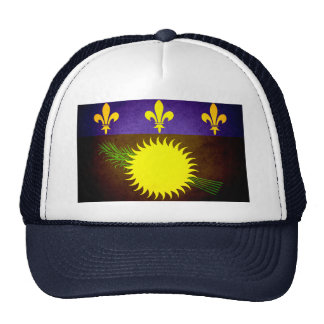 Sun kissed Guadeloupe Flag Mesh Hats