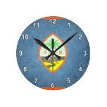 Sun kissed Guam Flag Round Clock