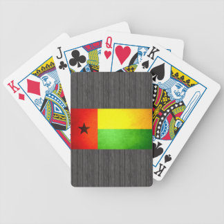 Sun kissed Guinea-Bissau Flag Bicycle Playing Cards