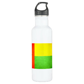 Sun kissed Guinea-Bissau Flag Stainless Steel Water Bottle