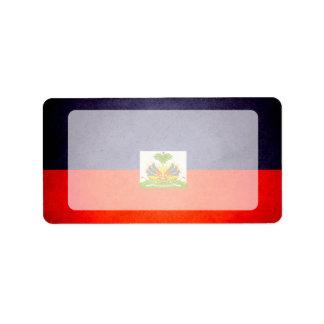 Sun kissed Haiti Flag Label