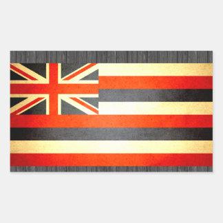 Sun kissed Hawaii Flag Rectangular Sticker