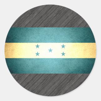 Sun kissed Honduras Flag Classic Round Sticker