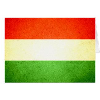 Sun kissed Hungary Flag Card