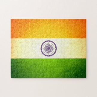Sun kissed India Flag Jigsaw Puzzle