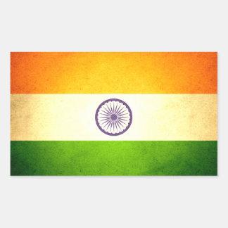 Sun kissed India Flag Rectangular Sticker